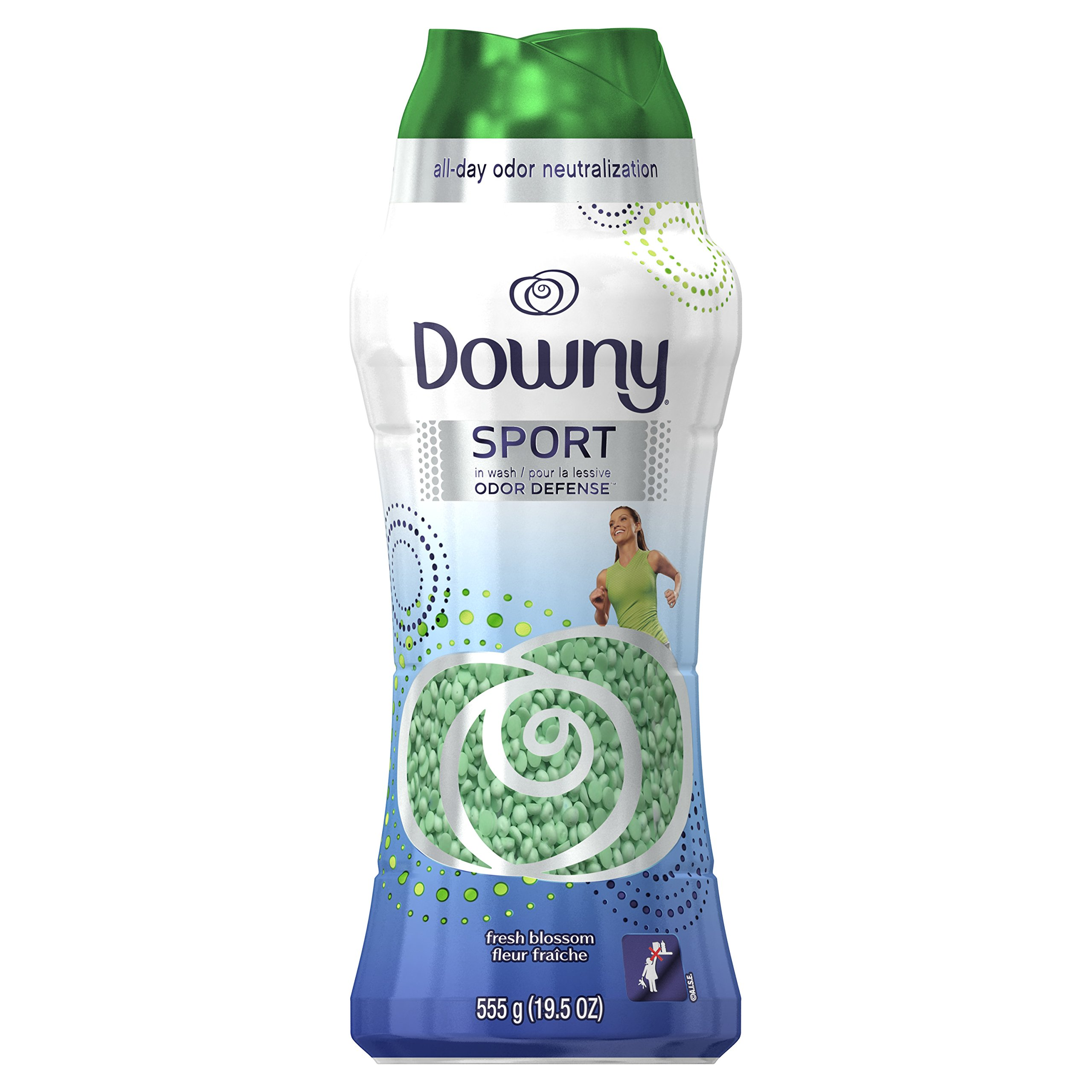 Downy Fresh Protect In-Wash Odor Shield Laundry Beads, Fresh Blossom Scent, 555 g