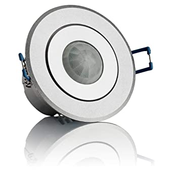 SEBSON® Detector de movimiento empotrable, interior, LED, montaje en techo, programable