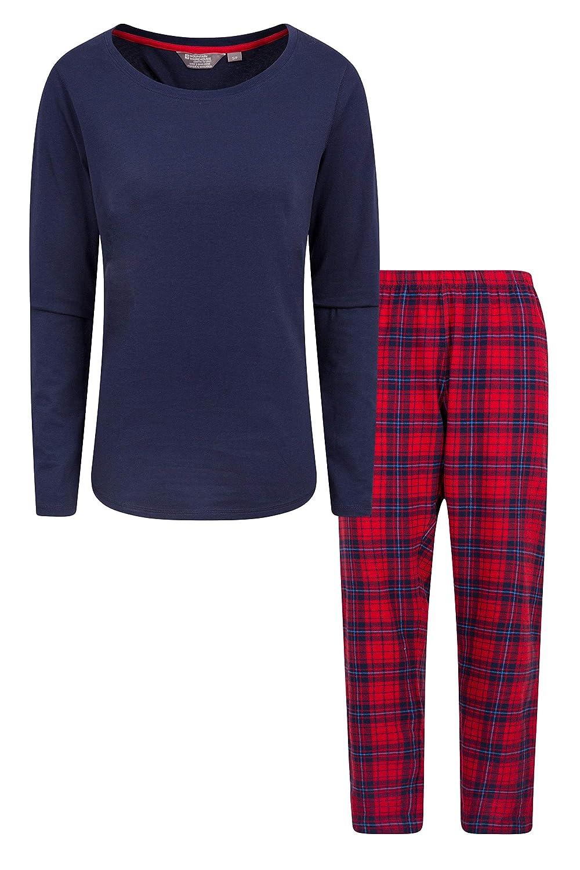 Mountain Warehouse Womens Flannel Pyjama Set - Easy Care & Cosy PJs
