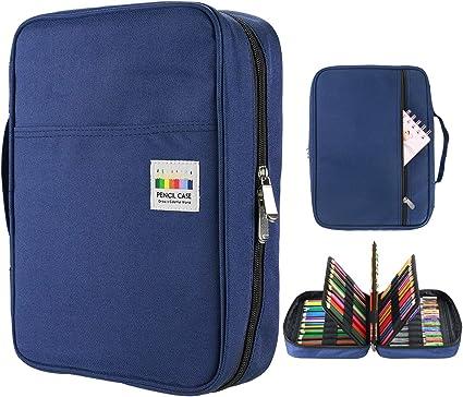 145 Slots gel stylos FO Coloriage organisateur de cas YOUSHARES 220 Slots couleur /étui /à crayons Violet Handy multicouche couleur crayon porte pour paillettes