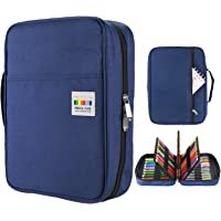 YOUSHARES Colored Pencil Case 220 Slots Pen Case Organizer with Handy Wrap & Zipper, Multilayer Holder for Prismacolor…