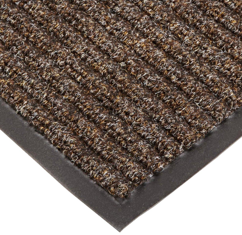 Midnight 3 Width x 5 Length x 3//8 Thickness for Wet and Dry Areas NoTrax T39 Bristol Ridge Scraper Carpet Mat