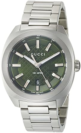buy popular 98c34 b887f Amazon | [グッチ]GUCCI 腕時計 GG2570 グリーン文字盤 YA142313 ...