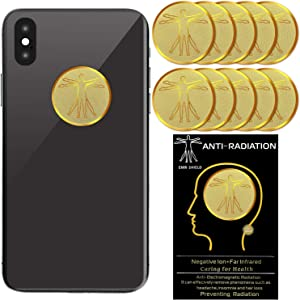 10 Pieces Radiation Protection Cell Phone Stickers EMF Blocker Devices Anti Radiation Protector Stickers for Mobile Phones Computers Laptops Electronic Devices