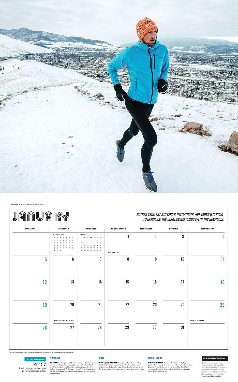 Calendrier Running 2020.Runner S World 2020 Calendar