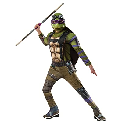 Rubie's Costume Kids Teenage Mutant Ninja Turtles 2 Deluxe Donatello Costume, Small: Clothing