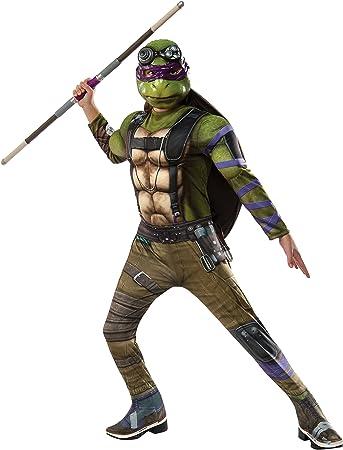 Rubies Costume Kids Teenage Mutant Ninja Turtles 2 Deluxe Donatello Costume, Small