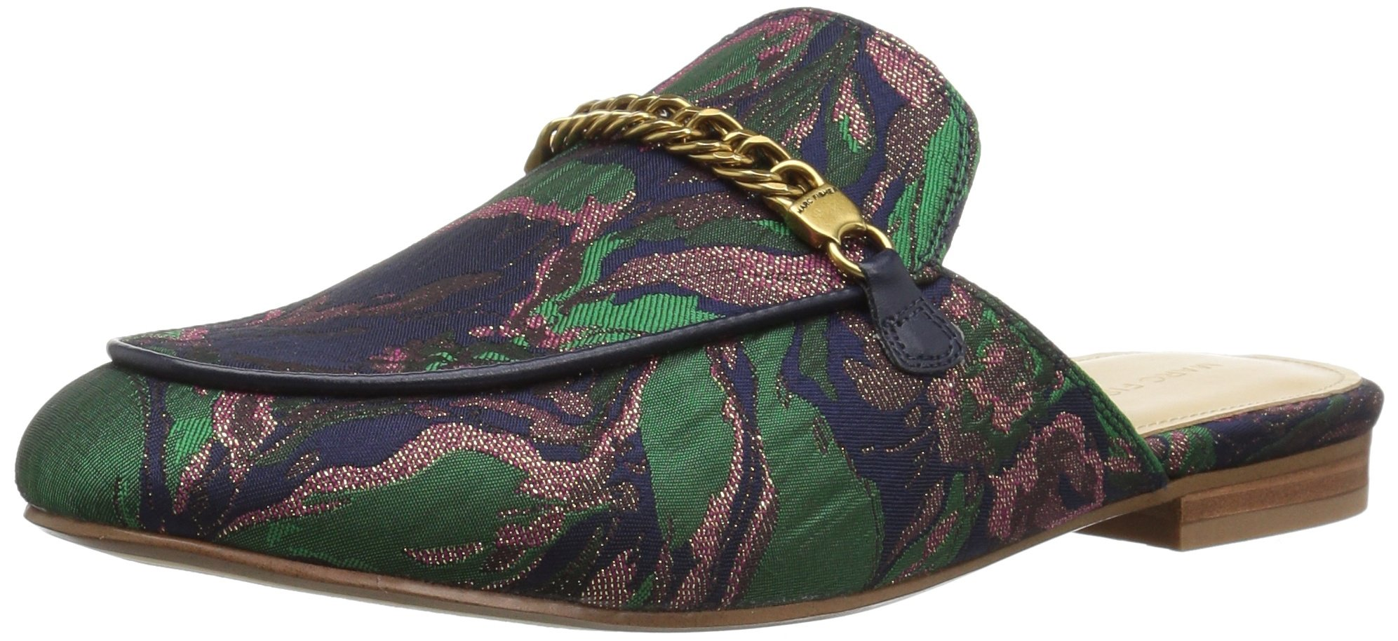 Marc Fisher Women's Whiley Mule, Navy Green, 8 Medium US
