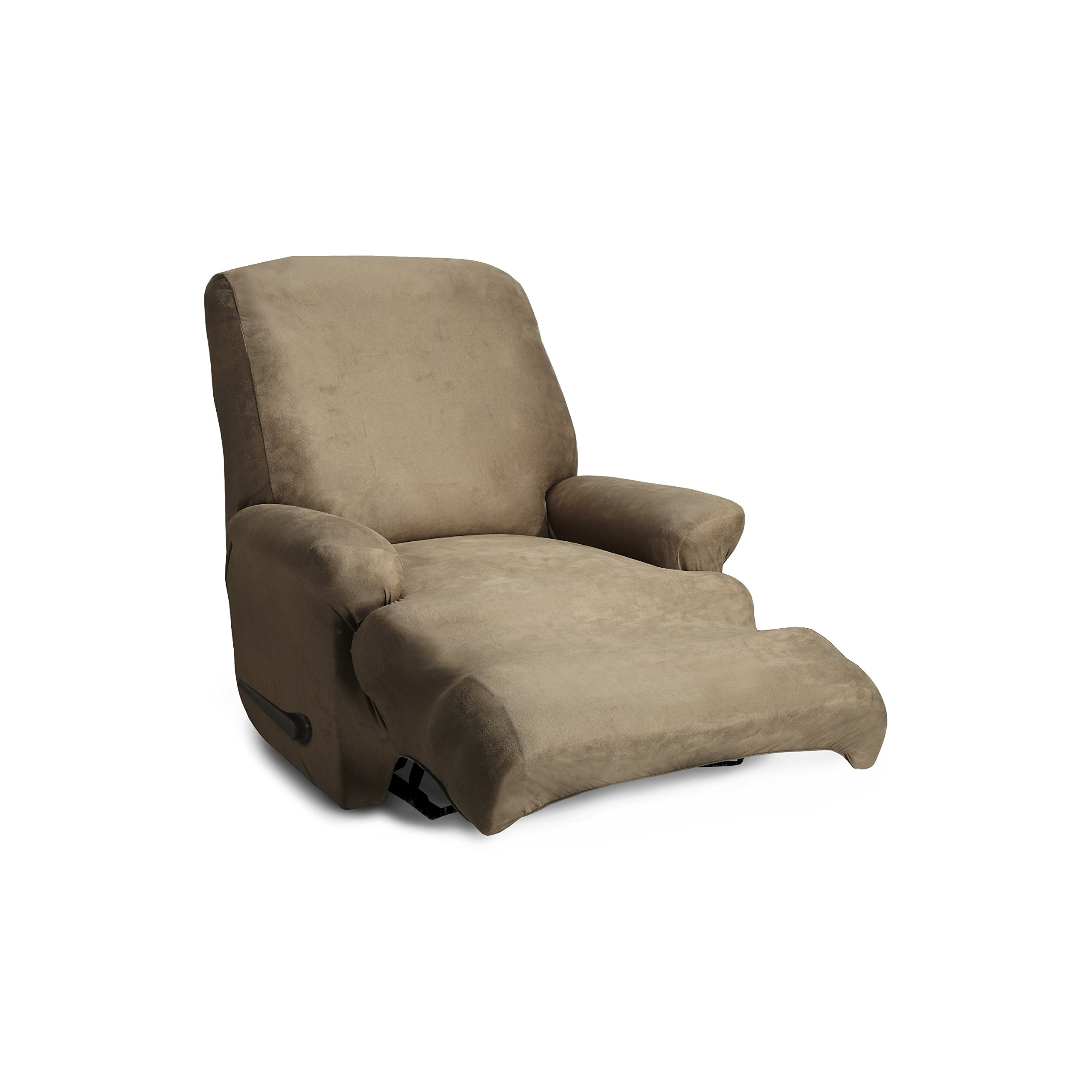 CoverWorks AUSTREC4BISC1 Stretch Leather Stretch Recliner Slipcover, Biscuit by CoverWorks