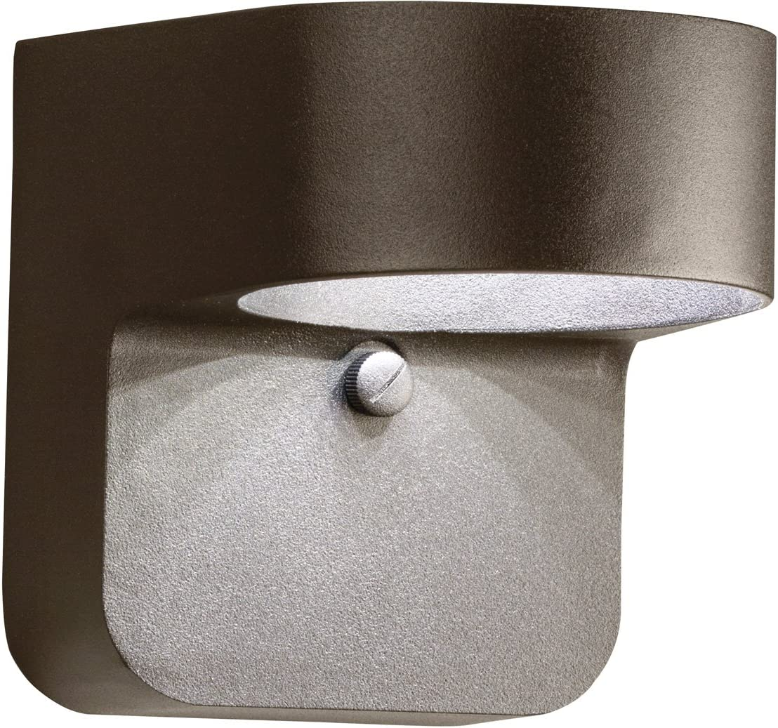 Kichler 11077AZT Outdoor Wall Sconce, 1 Light LED 15 Watts, Textured Architectural Bronze