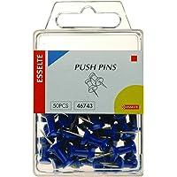Esselte Metalware Pins Drawing Pk50 Blue