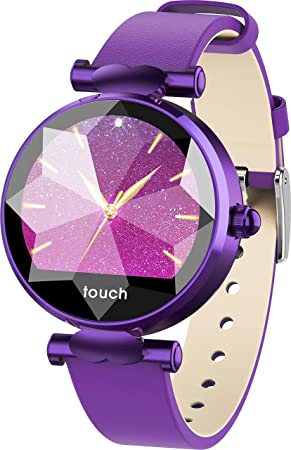 iCoverCase Montre Connectée, Smart Watch pour Femme Fille, Bluetooth Smartwatch IP67 Imperméable Sports Moniteur