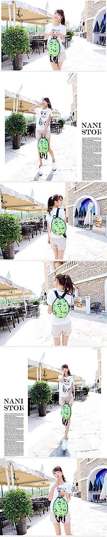 Amazon.com: Creative PU Leather Turtle Shell Backpack Hand ...