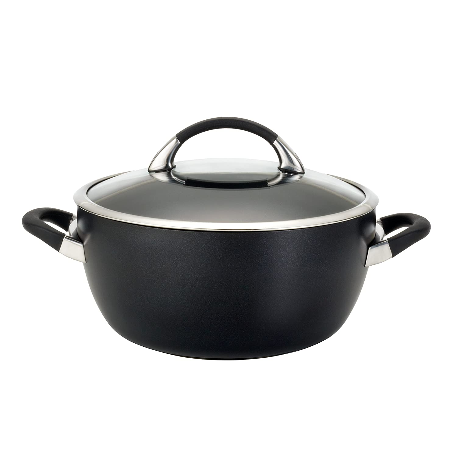 Circulon Symmetry Chocolate Hard Anodized Nonstick 5.5-Qt. Covered Casserole Meyer 82769