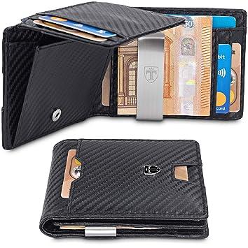 129c3f2f0ddc6 TRAVANDO Geldbörse mit Geldklammer Geldbeutel Männer Helsinki Slim Portemonnaie  Wallet Portmonaise Herren Geldtasche klein Portmonee RFID