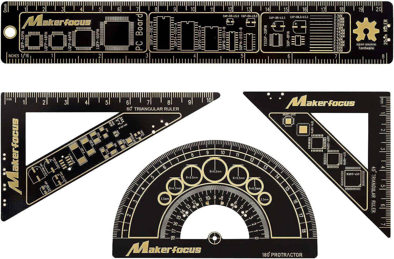 15cm Multifunctional PCB Ruler Measuring Tool Resistor Capacitor Chip IC SM BH