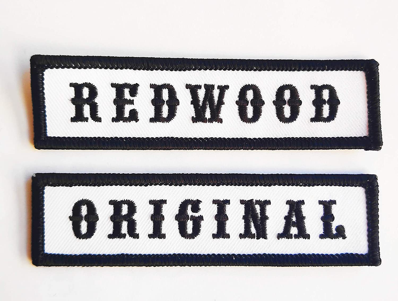 Redwood Original Biker Vest Jacket Set of 2 Patches Motard /Écusson Brod/é Thermocollant Titan One Europe