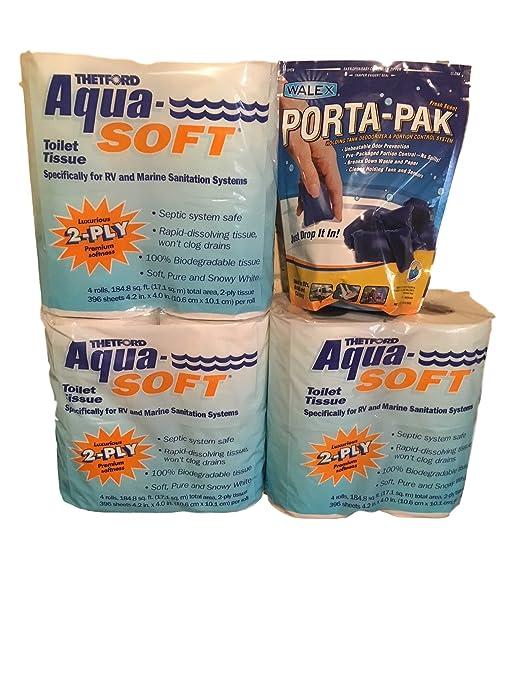 VP Thetford RV Toilet Tissue 2 Ply Paper 12 Rolls And Porta