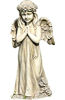 Napco Little Girl Praying Angel With Wings Garden Statue