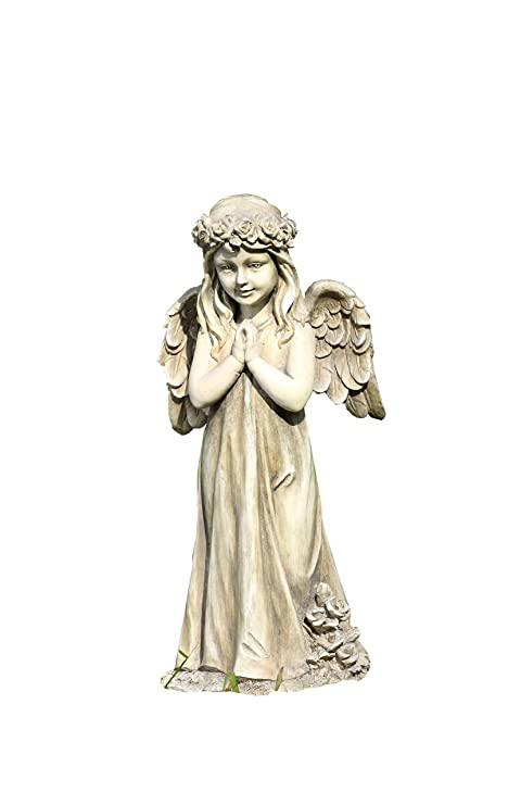 Perfect Napco Little Girl Praying Angel With Wings Garden Statue