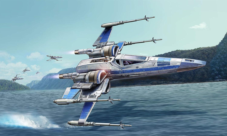 Mehrfarbig Revell REV-66744 Model Set Resistance X-Wing Fighter Luke Skywalker Modellbausatz Zubeh/ör 1//50