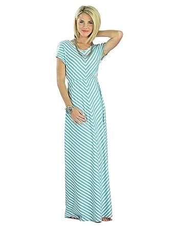 Mikarose Floor-Length Short Sleeve Maxi Dress- Makenna, Size XS ...