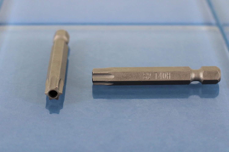 50mm TEMO 25pc T40H Tamper Proof Security Torx 2-Inch Screwdriver Insert Bits