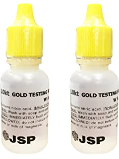 2 Bottles 10K Gold Metal Test Acid Karat Testing Liquid Solution Jewelry Tester