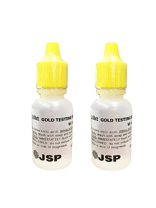 Amazon.com: 2 Bottles 10K Gold Metal Test Acid Karat Testing Liquid Solution Jewelry Tester Xmas Christmas Black Friday Cyber Monday Hanukkah: Jewelry