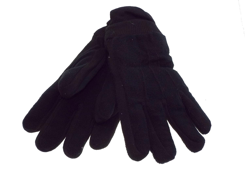 1 par de guante hombre polar doblado negro talla único - el 100 % poliéster