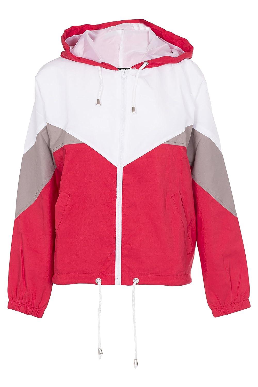 Noroze Women Hooded Panel Wind Breaker Jacket Summer Top
