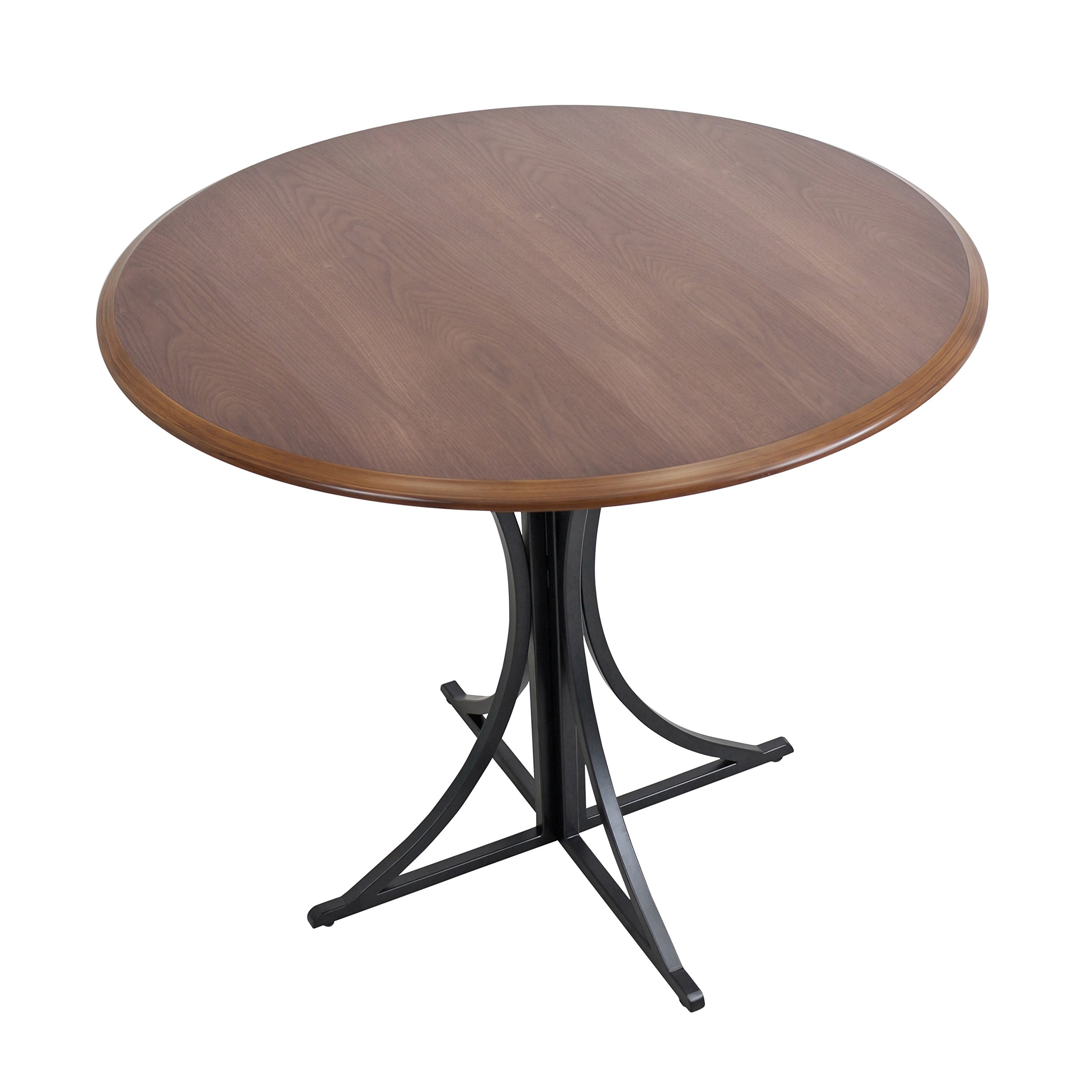 WOYBR DT WL+BK Wood, Metal Boro Dining Table by WOYBR (Image #3)