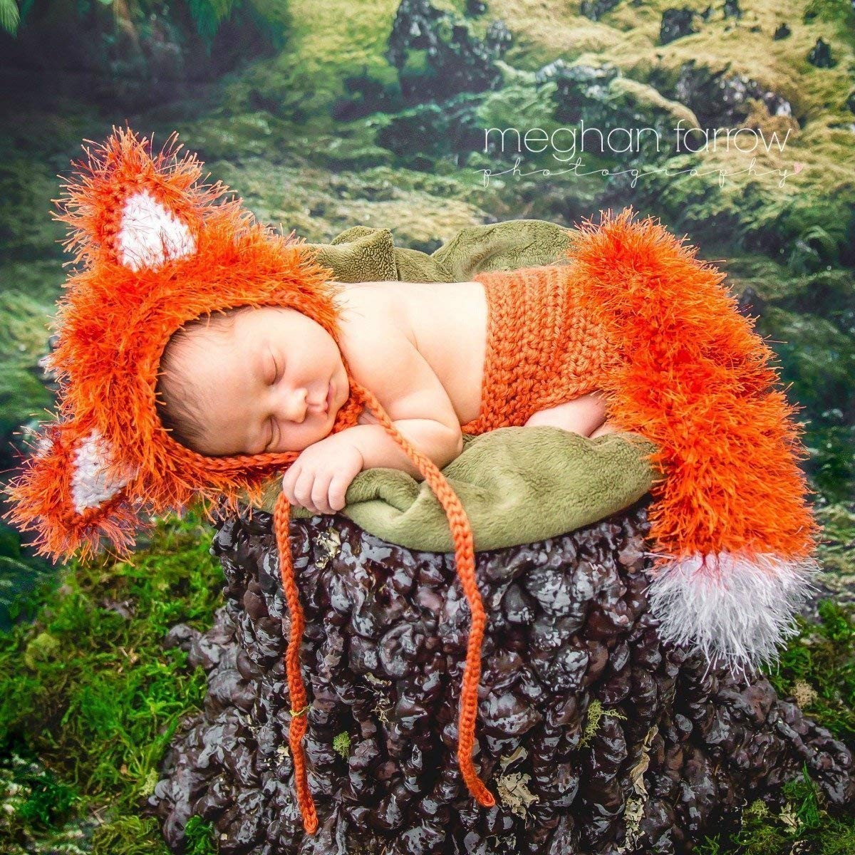Woodland fox outfit for newborn baby photo prop