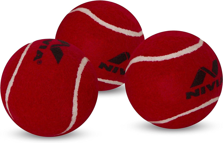 Pack of 6 Nivia Heavy Tennis Ball Cricket Ball