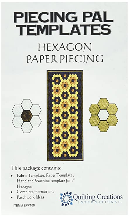 amazon com quilting creations template piecing pal paper piecing