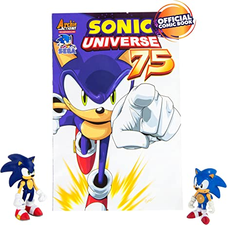 Tomy T22056 Sonic Collector Series 2 Figure Pack With Comic Classic Sonic Modern Sonic Figures Amazon Canada