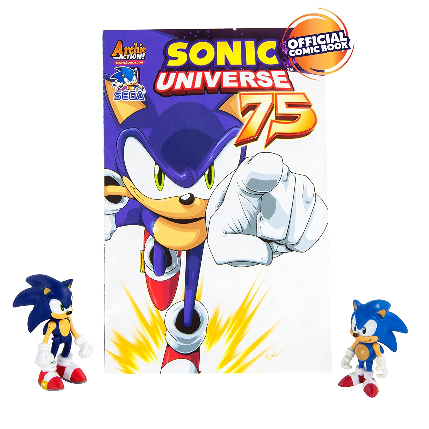 Amazon.com: TOMY Sonic Collector Series 2 Figure Pack with Comic ...