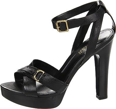 0ad94ace902 Lauren Ralph Lauren Women's Falan Platform Sandal, Black, 10 M US ...
