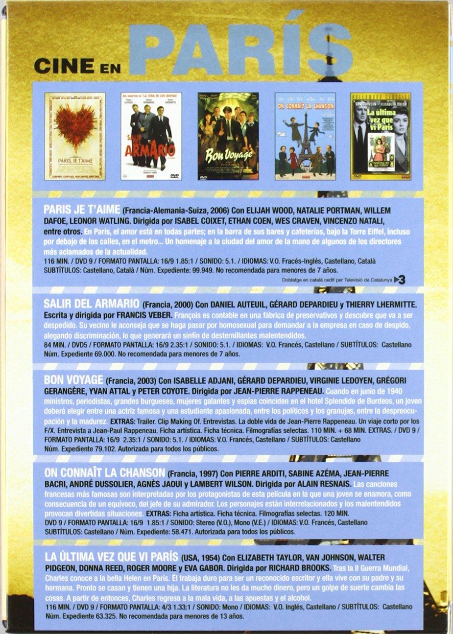 Amazon.com: Cine En París (Pack) - Paris, Je T´Aime (Ed. Especial) / Bon Voyage / On Connait la Chanson / La Última Vez que Ví París / Salir del Armario ...