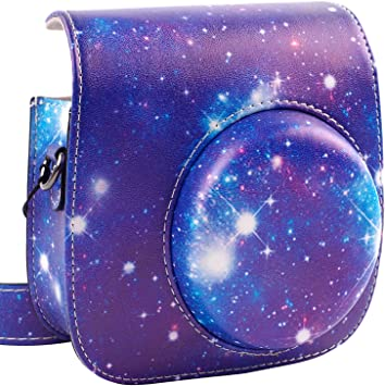 Starry Sky by SAIKA Instant Film Polaroid Camera with Accessory Pocket and Adjustable Strap Protective /& Portable Case Compatible with Fujifilm Instax Mini 9 8 8