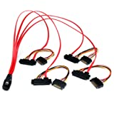 StarTech 50cm SFF8087 to 4x SFF8482 Internal Serial Attached SCSI Mini SAS Cable
