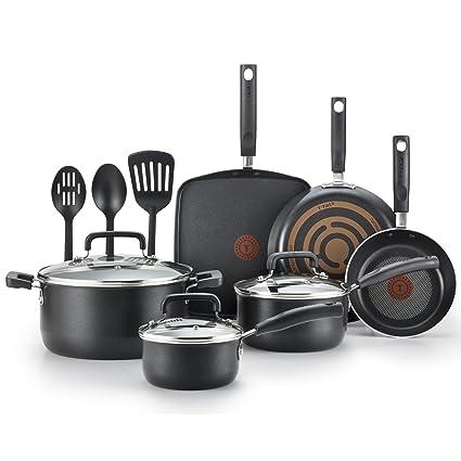 Amazoncom T Fal C530sc Signature Nonstick Dishwasher Safe Cookware