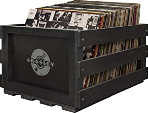 Crosley AC1004A-BK Record Storage Crate Holds up to 75 Albums, Black