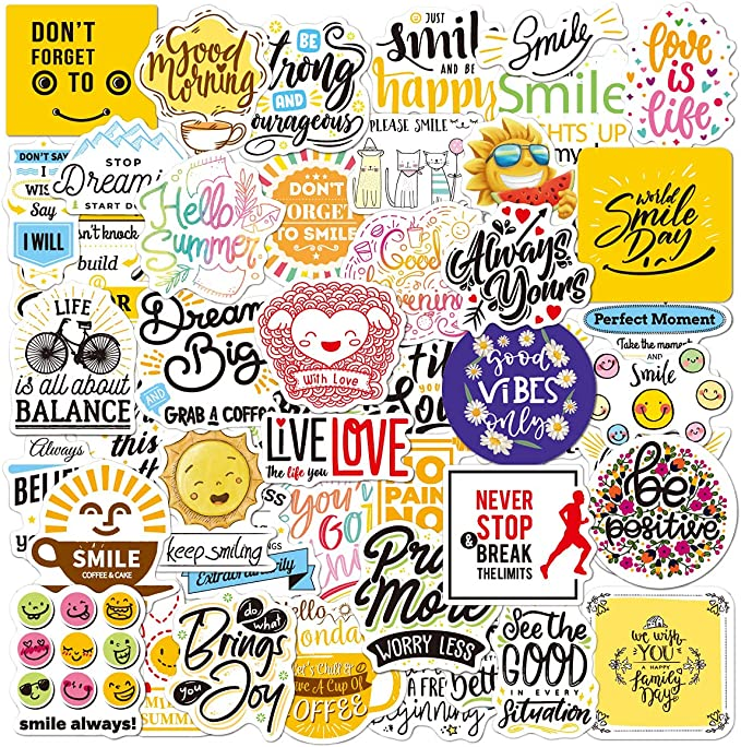 Inspirational Quotes Stickers| 100Pcs Cool Cute Aesthetic Motivational Waterproof Stickers for Laptop Scrapbook Hard Hat Water Bottle Snowboard VSCO Positive Vinyl Stickers for Adult Teens Girls: Amazon.ca: Baby