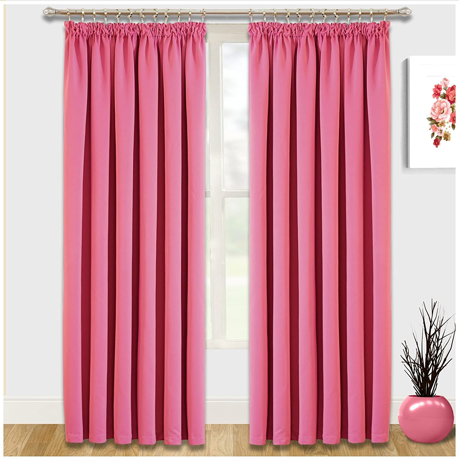 Pencil Pleat Window Blinds Thermal Insulated Blackout