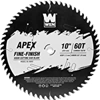 WEN BL1060C Apex 10-Inch 60-Tooth Carbide-Tipped Fine-Finish Industrial-Grade Woodworking Saw Blade with Cool-Cut…