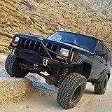 Tuff Stuff 84-01 Jeep Cherokee XJ Front Bumper- Winch Mount, D rings & Jack Point