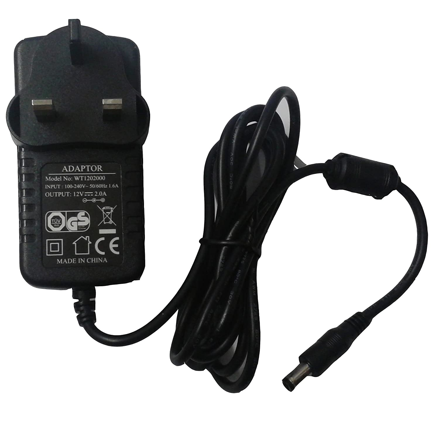 WT1202000  AC ADAPTER 100//240V 12v 2A NEW