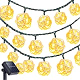 Amazon Price History for:Solar String Lights Outdoor,Oak Leaf 19.7 ft 30 LED Rattan Ball LED Fairy Lights for Outdoor Garden Backyard Patio Party,Warm White, 2 Modes