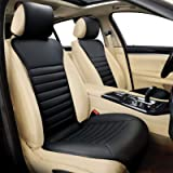 Sunny color 1pc Filling Bamboo Charcoal Car Front Seat Cover Cushion Pad Mat for Auto with PU Leather(Black) …